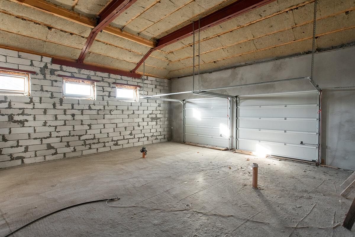 isolation d'un garage